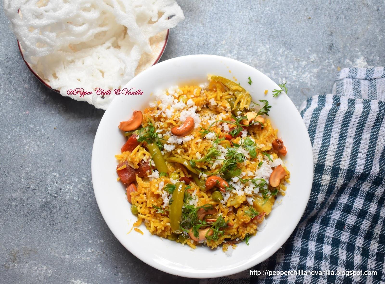 masala bhat pressure cooker method