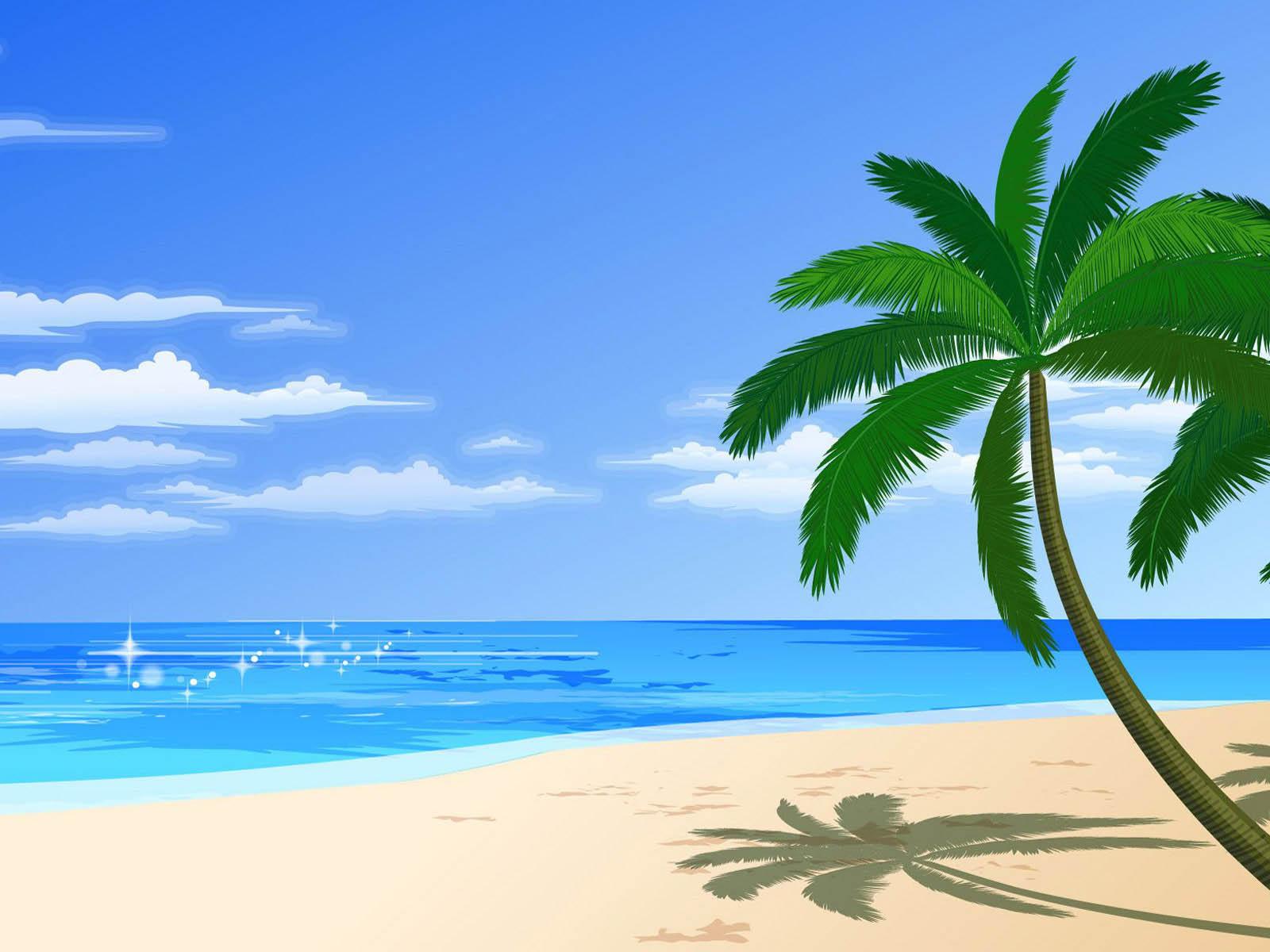 wallpaper: vector beach