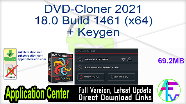 DVD-Cloner 2021 18.0 Build 1461 (x64) + Keygen