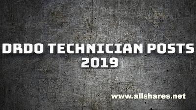 DRDO technician posts 2019