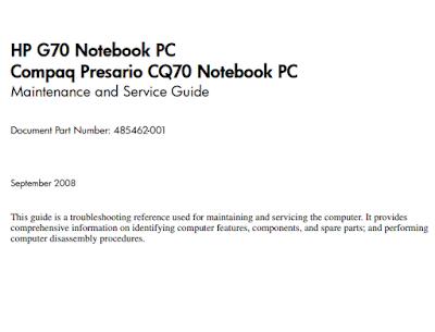 Compaq Presario CQ60 Service Manual