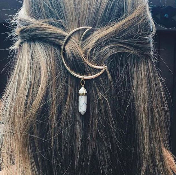 Moon Barrettes
