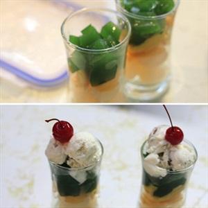 Thạch trà xanh trái cây bổ sung vitamin ngày giao mùa 3