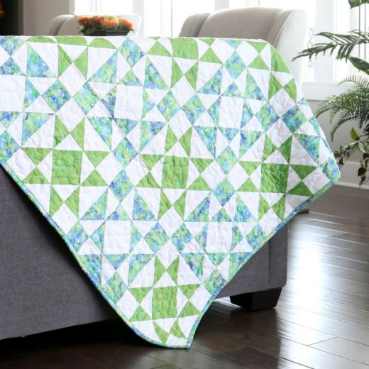 Diamond Star Throw Quilt Free Pattern designed by Accuquilt