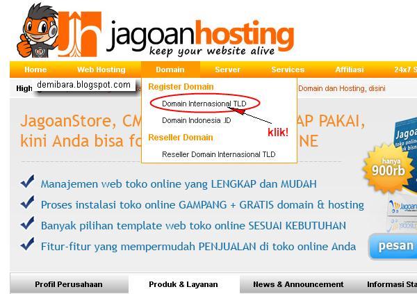 Cara Hosting Website Untuk Toko Online - pilih Domain Internasional TLD