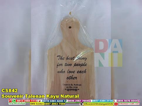 souvenir talenan kayu natural harga murah