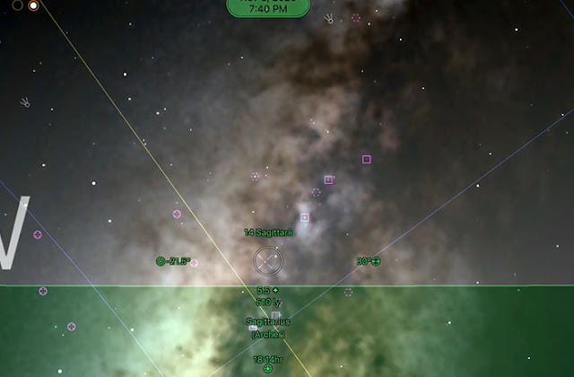 Go Sky Watch screenshot showing Jupiter and Milky Way (Source: Palmia Observatory)