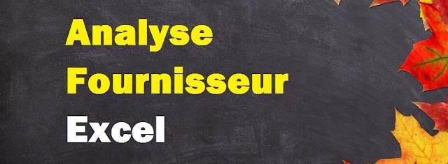 Analyse compte fournisseur Excel