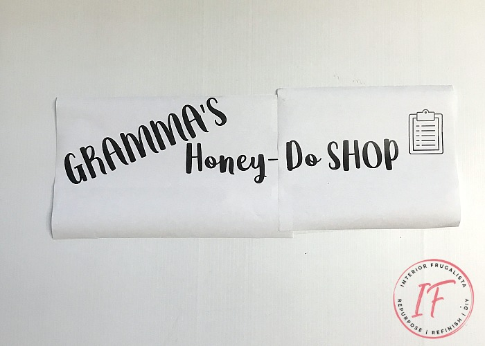 Grandma's Honey Do Shed Sign Graphic
