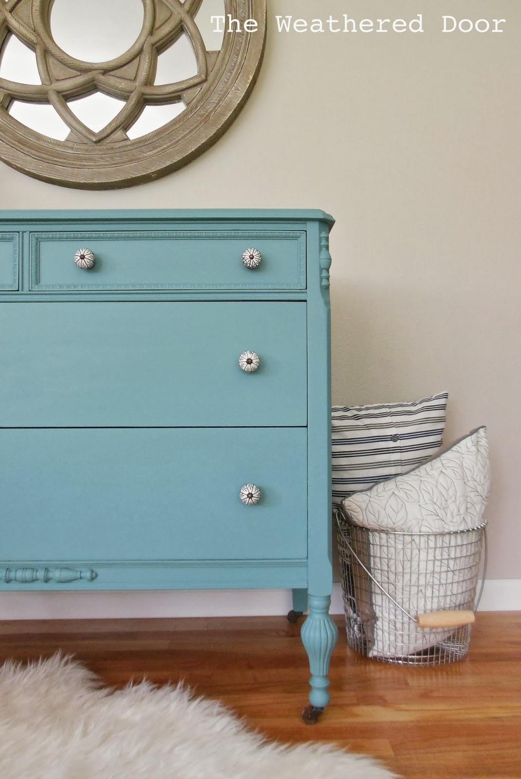 A Bayside Blue Dresser Back By Por Demand