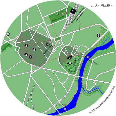 Map of Limoges.