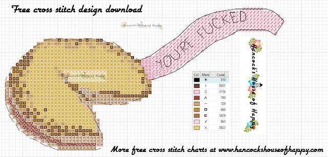 Free Fortune Cookie Cross Stitch Pattern to Download