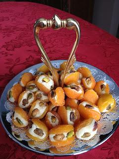 Pistachio & Almond Paste Filled Apricots