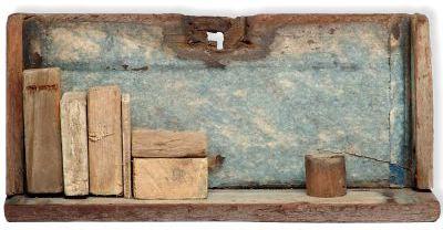 Paisaje e Casilda - Ensamblaje en madera - 10x22x  6 cm - 2007@Galeria Arte Puy
