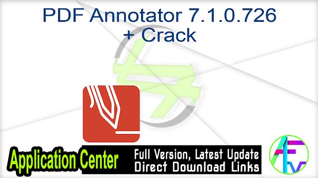 PDF Annotator 7.1.0.726 + Crack