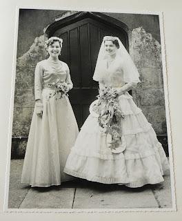 Bride and bridesmaid at Taylor wedding