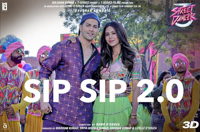 Sip Sip 2.0 Lyrics - Street Dancer 3D  Varun , Shraddha - friendslyrics