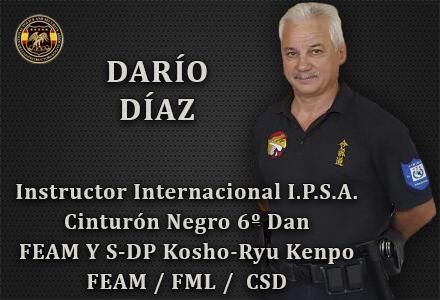 DARIO DIAZ INSTRUCTOR INTERNACIONAL IPSA INTERNATIONAL POLICE AND SECURITY ASOCCIATION IPSA