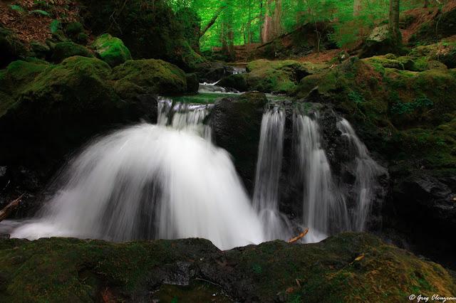 Les cascades de Chiloza, Besse, France avaient peu d'eau à l'été 2019