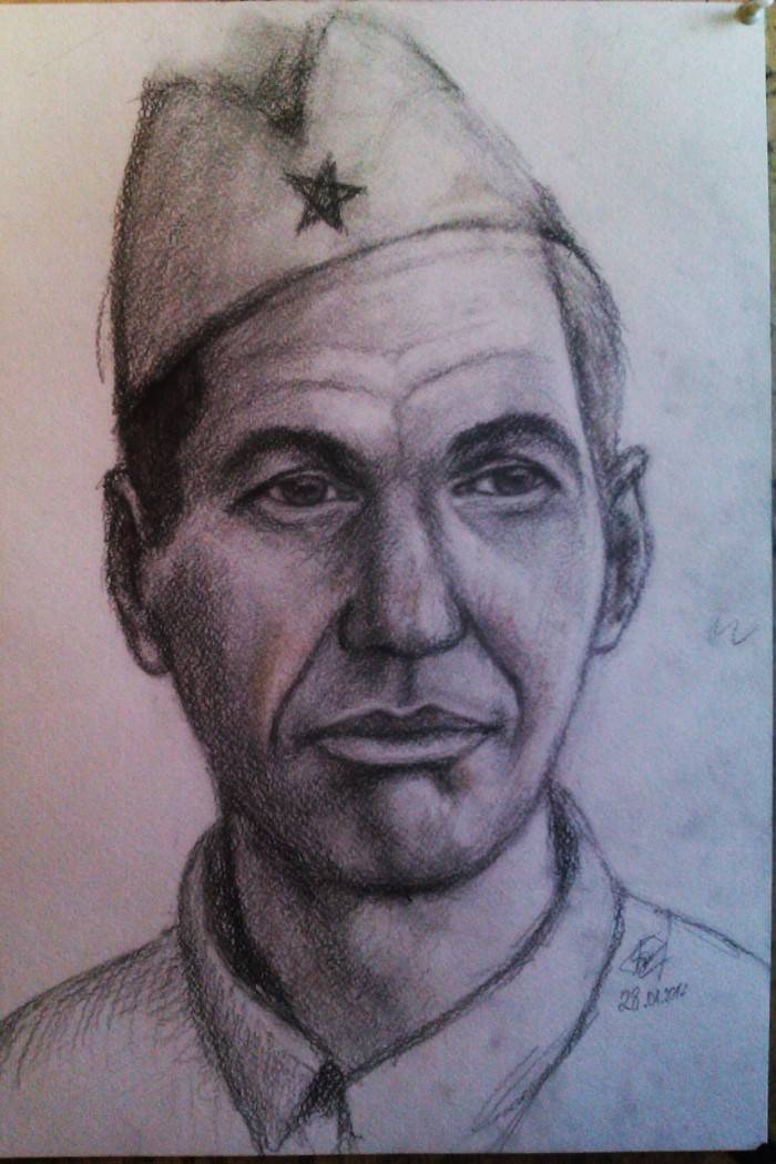 Портретные работы карандашом. Вячеслав Биткин