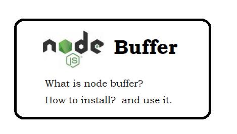 Node Js Buffer module examples with script code