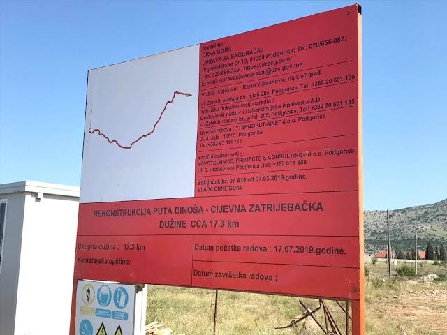 Put Dinoša-Cijevna Zatrijebač biće završen do novembra