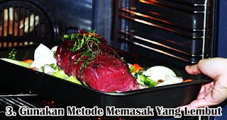 Gunakan Metode Memasak Yang Lebih Lembut merupakan salah satu tips sehat konsumsi daging saat Idul Adha