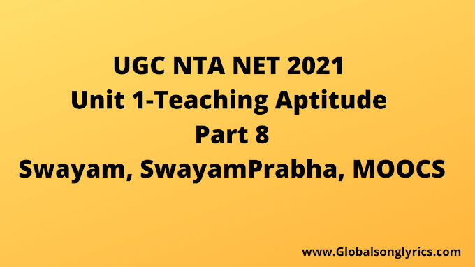 UGC NTA NET Exam2021| Swayam | Part 8 |