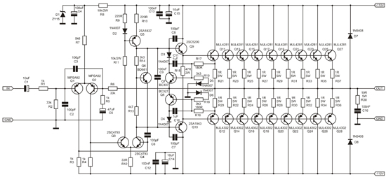 2sc5200 2sa1943 amplifier schematic