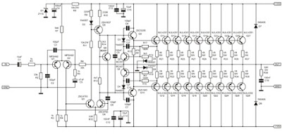 1000 Watt Amplifier APEX 2SC5200 2SA1943  Circuit diagram