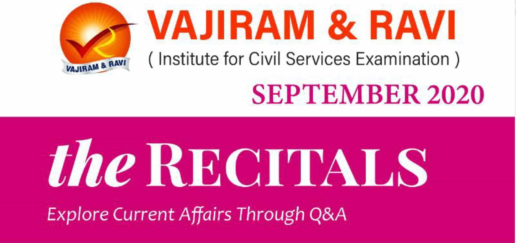 Vajiram Current Affairs September 2020