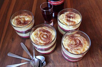 Zuppa inglese senza glutine in perfetto equilibrio di consistenze e sapori.
