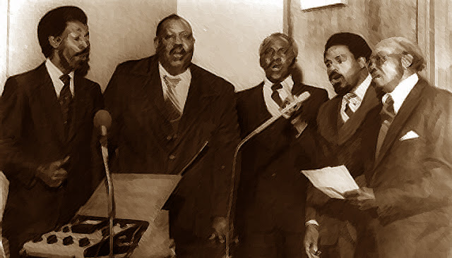The Zion Travelers Spiritual Singers of Baton Rouge in the studio recording The Gospel Train. Photo: J. Nash Porter