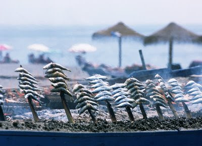 Espetos de sardina malagueños