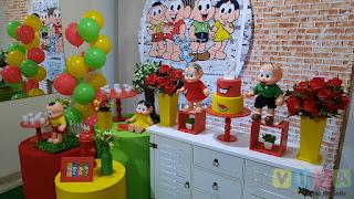 Decoração de festa infantil Turma da Mônica e Magali