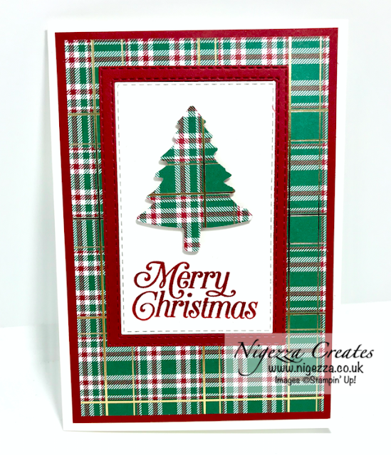 Nigezza Creates Using Stampin' Up! Wrapped In Plaid