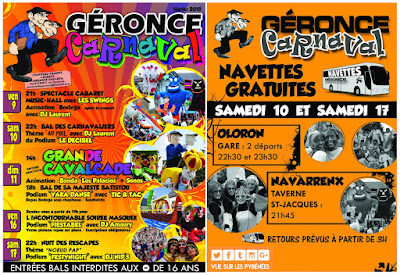 Le traditionnel Carnaval de Géronce 2018