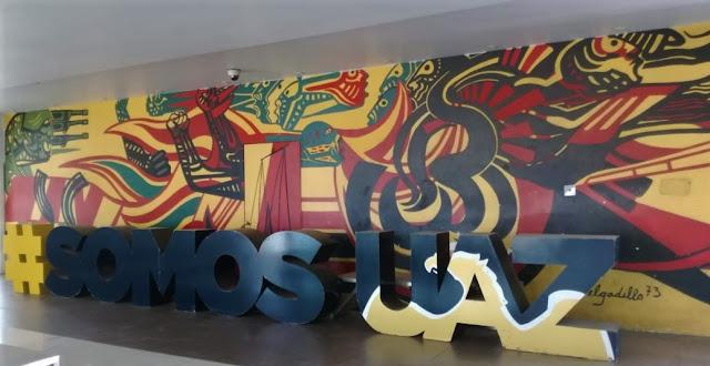 Mural principal, Unidad Académica de Derecho, UAZ. Foto: Abigail Gaytán