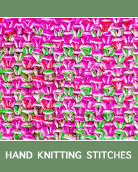 Learn Three Linen Slip Stitch Pattern with our easy to follow instructions at HandKnittingStitches.com