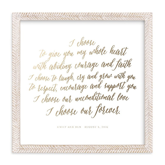 Minted Wedding Gift Ideas, Vow Prints, Newlywed home decor ideas, personalized linens, art prints, Minted discounts, Minted anniversary deals