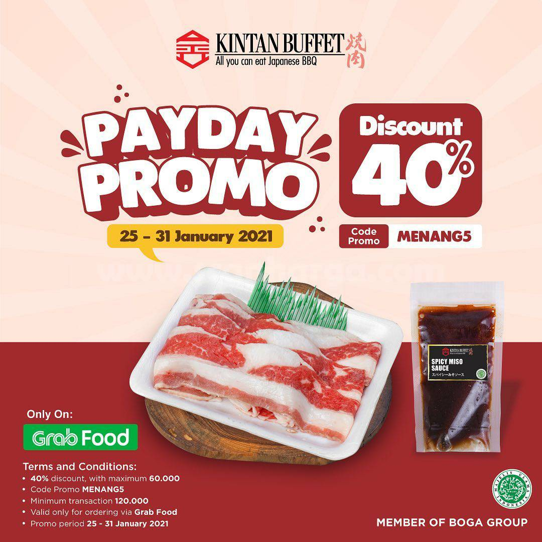 KINTAN BUFFET Sepesial Promo PAYDAY GRABFOOD – Diskon 40%