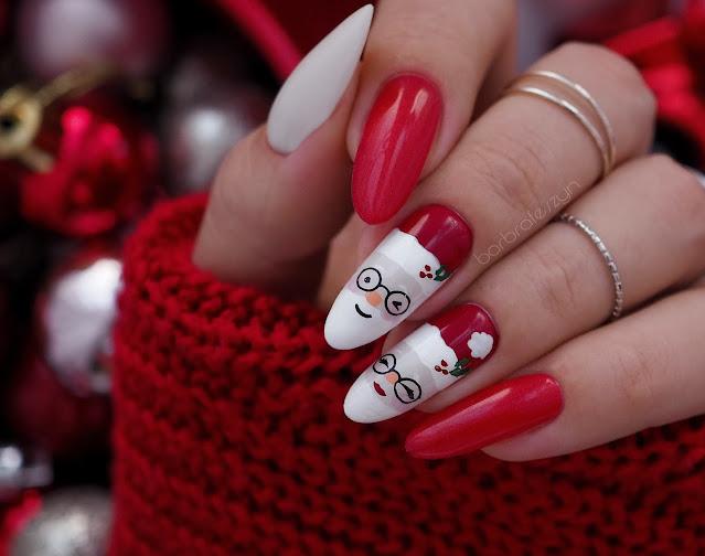 mikołajowe paznokcie