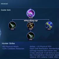penjelasan lengkap hunter strike item mobile legends