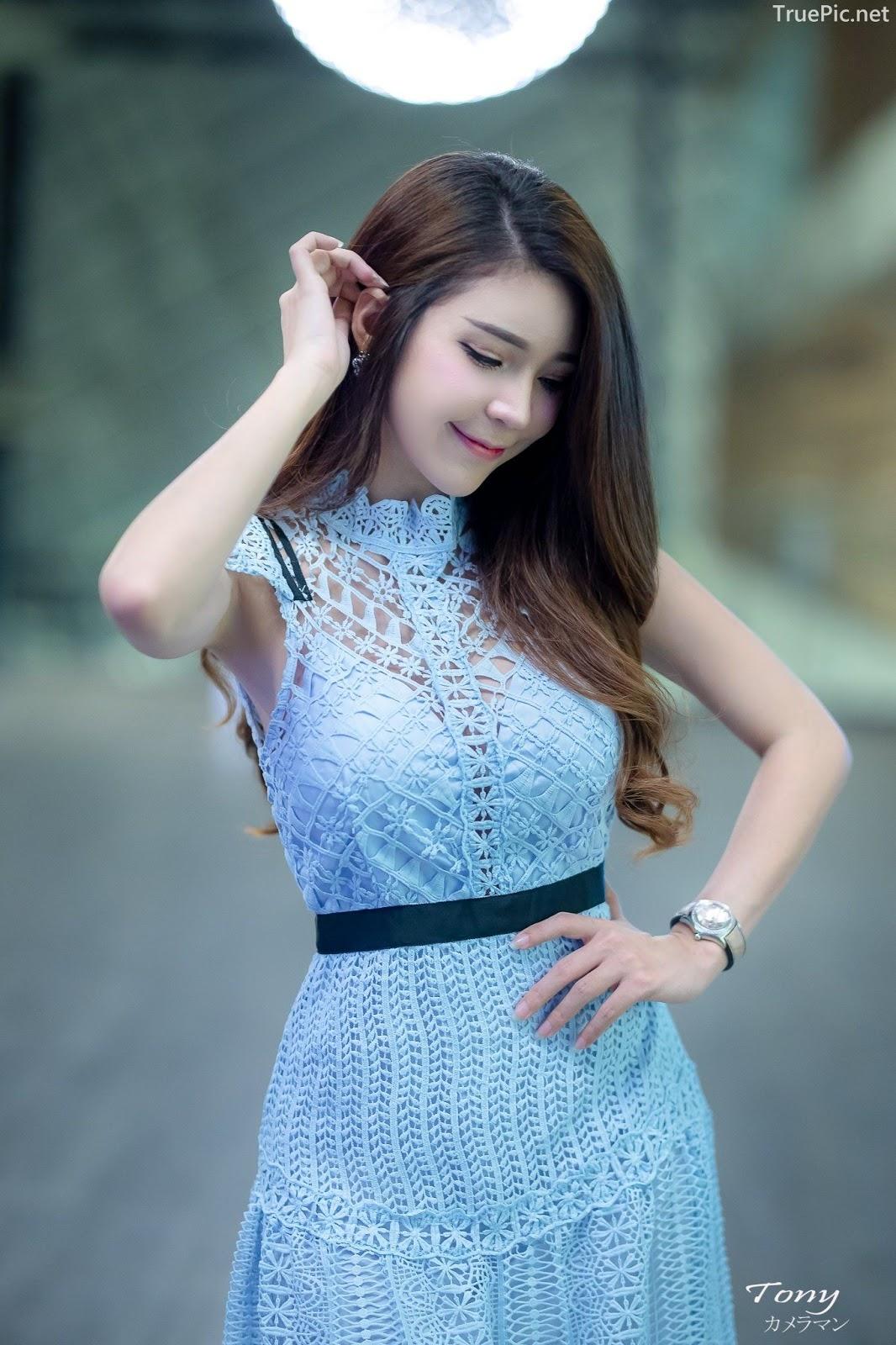 Thailand hot model – Janet Kanokwan Saesim – Sexy vs Cute and Bra vs Long Dress - Picture 1