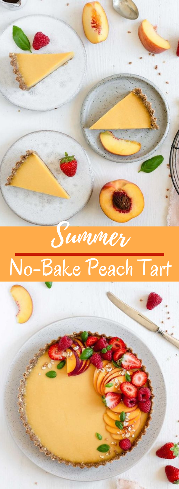 Summer Peach Tart #desserts #nobake