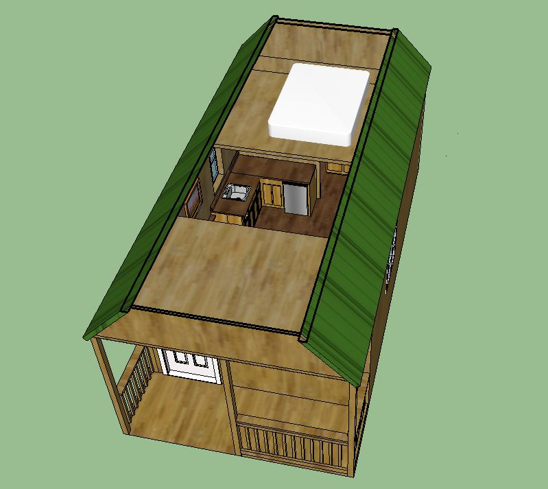 Sweatsville 12 X 24 Lofted Barn Cabin In Sketchup