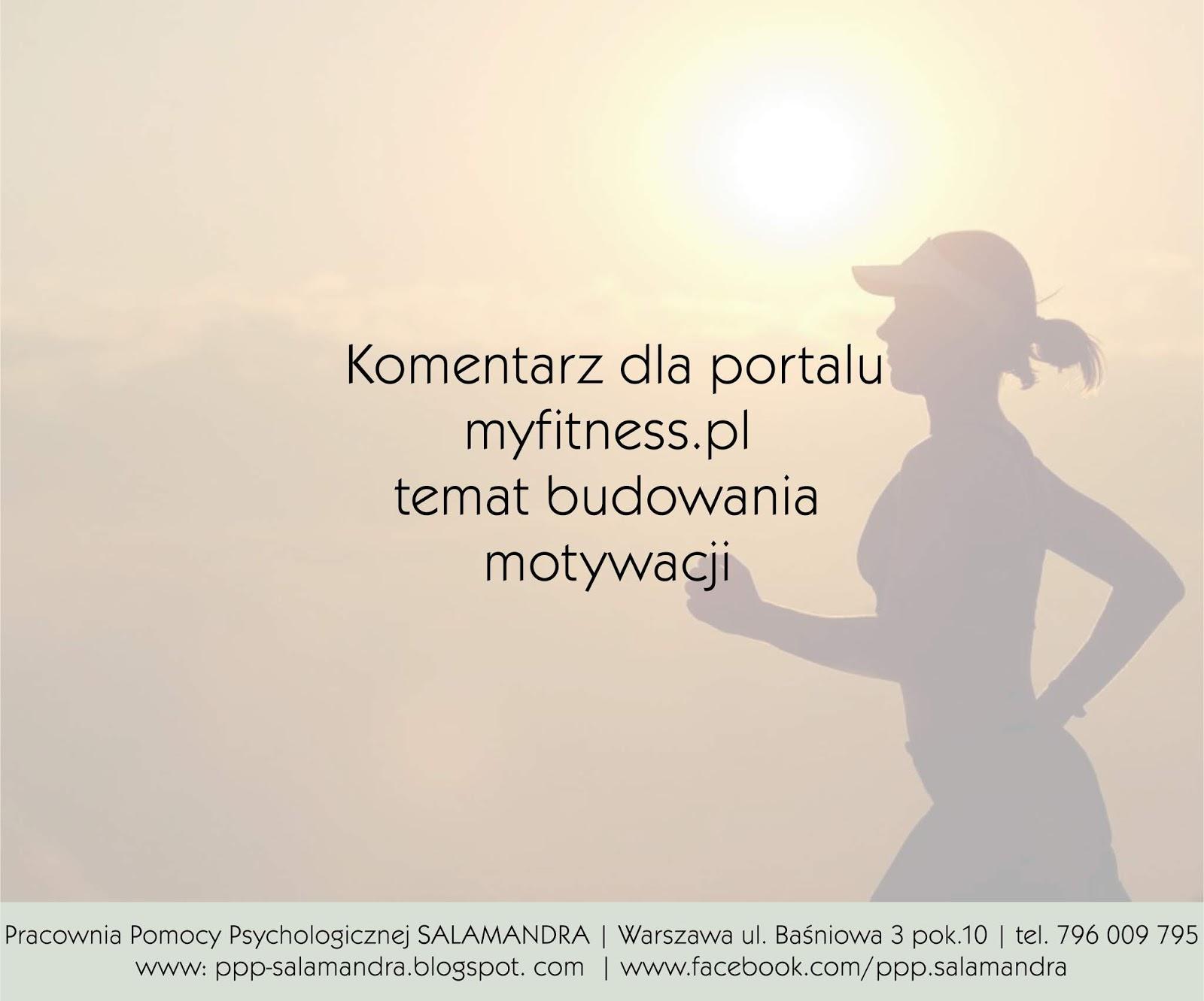 Jak sobie radzić ze spadkiem motywacji - komentarz psychologa dla portalu myfitness.pl