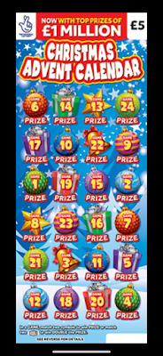 National Lottery Advent Scratchcards 2020