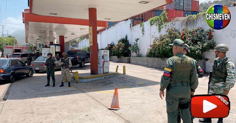 Ex-Chavistas le reclaman a los Guardias por la falta de gasolina