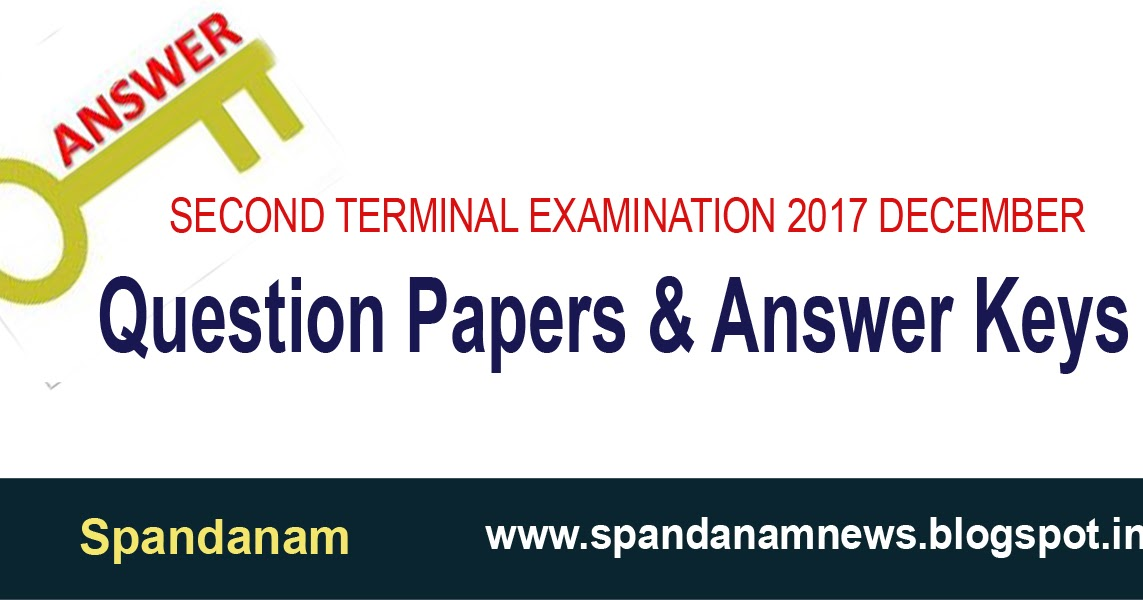 spandanam / സ്പന്ദനം: Question Papers and Answer Keys